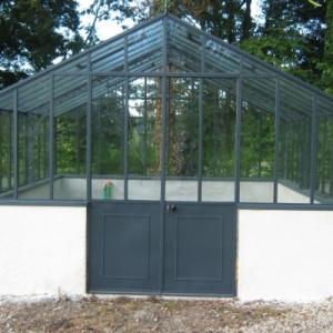 Structure en fer forg normandie ferronerie artisan for Serre de jardin en fer forge