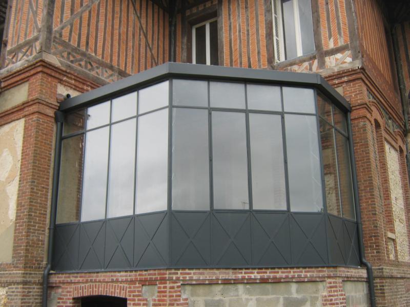 Verri re en double vitrage normandie ferronerie artisan - Modele verriere interieur ...