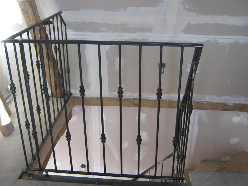 Rampe d 39 escalier et balustrade normandie ferronerie - Balustrade fer forge ...