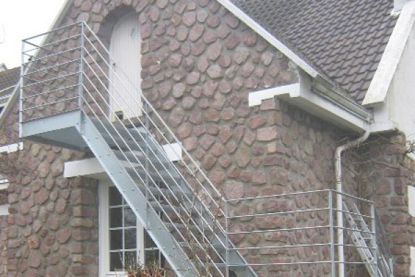 Escalier Ext Rieur En M Tal Normandie Ferronerie Artisan Ferronnier En Normandie Et Pays D 39 Auge