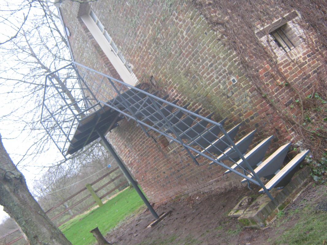 Escalier ext rieur en m tal normandie ferronerie for Escalier en metal pour exterieur