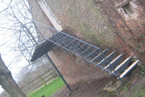 Escalier ext rieur en m tal normandie ferronerie for Modele escalier exterieur