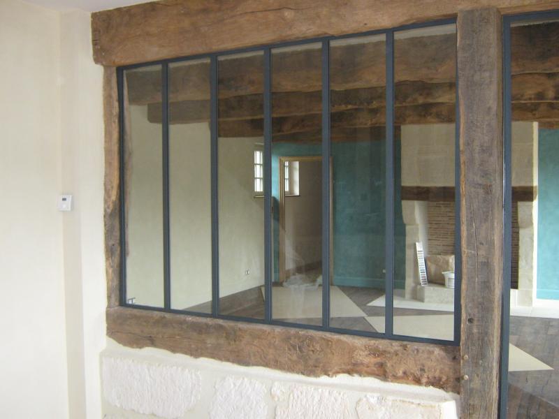 Extrêmement Verrière d'intérieur à porte sur gonds - Normandie Ferronerie  NU08